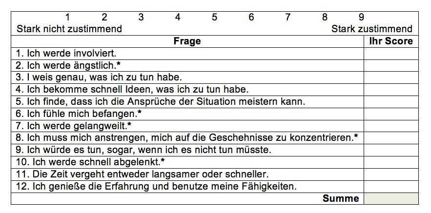 Flow-Tabelle